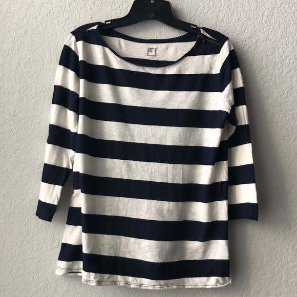 457b5bc6076 Large striped JCP 3 4 sleeve top EUC